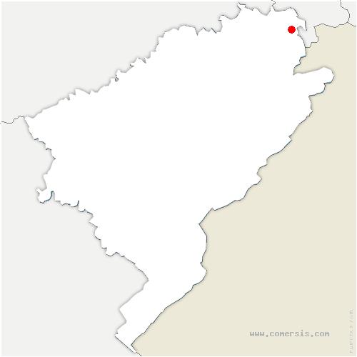 carte de localisation de Étupes