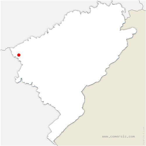 carte de localisation de Ferrières-les-Bois