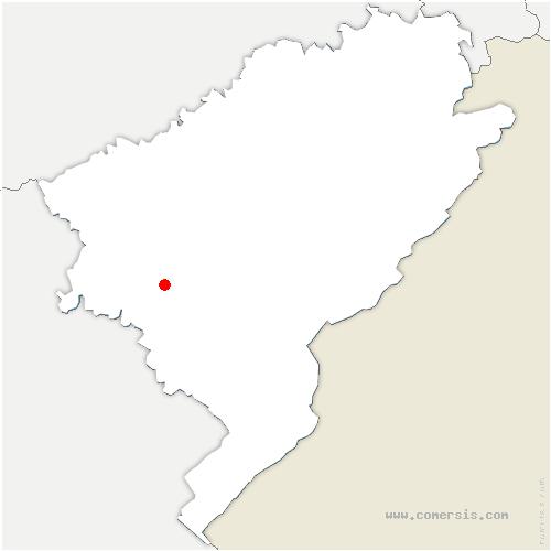 carte de localisation de Fertans