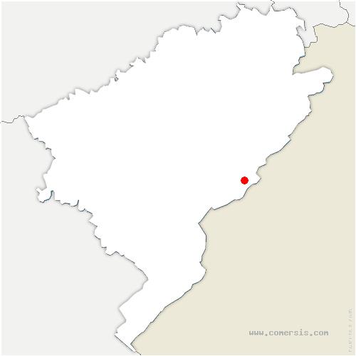 carte de localisation de Fins