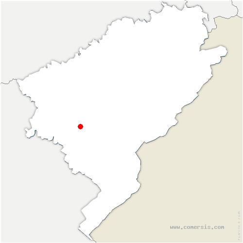 carte de localisation de Flagey