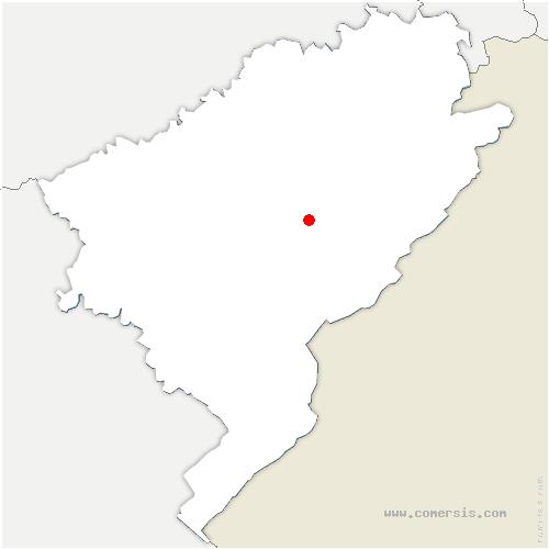 carte de localisation de Flangebouche