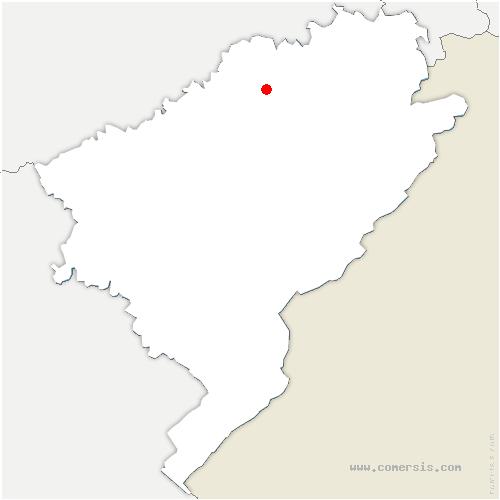 carte de localisation de Fontaine-lès-Clerval