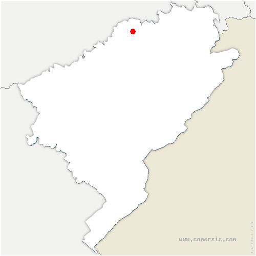 carte de localisation de Fontenelle-Montby