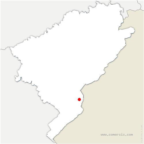 carte de localisation de Fourgs