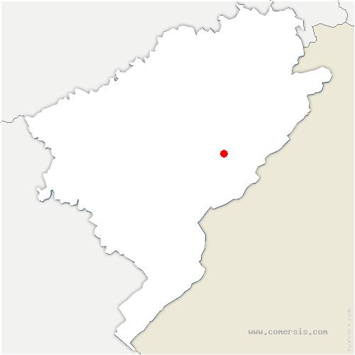 carte de localisation de Fournets-Luisans