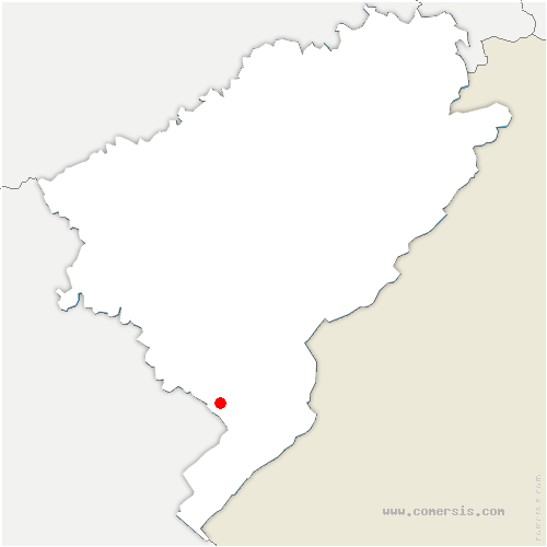 carte de localisation de Frasne