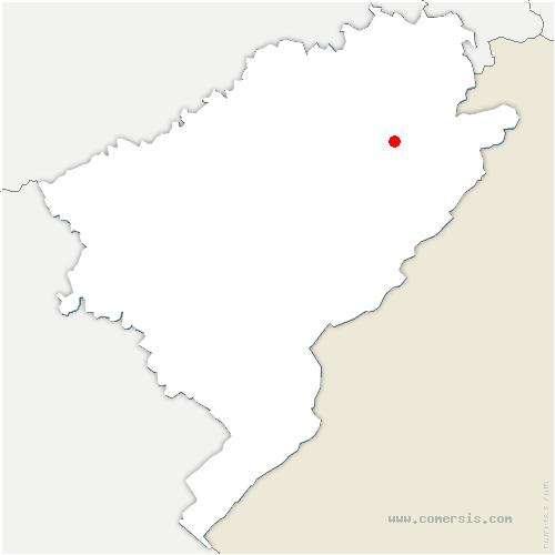carte de localisation de Froidevaux