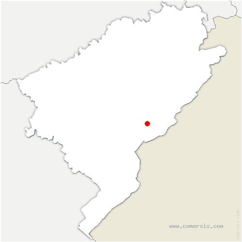 carte de localisation de Gilley