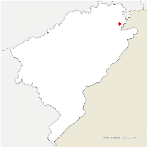 carte de localisation de Glay