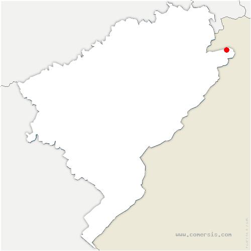 carte de localisation de Glère
