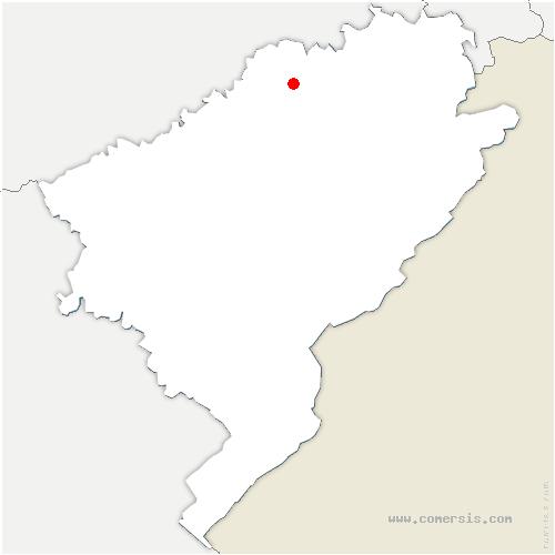 carte de localisation de Gondenans-Montby