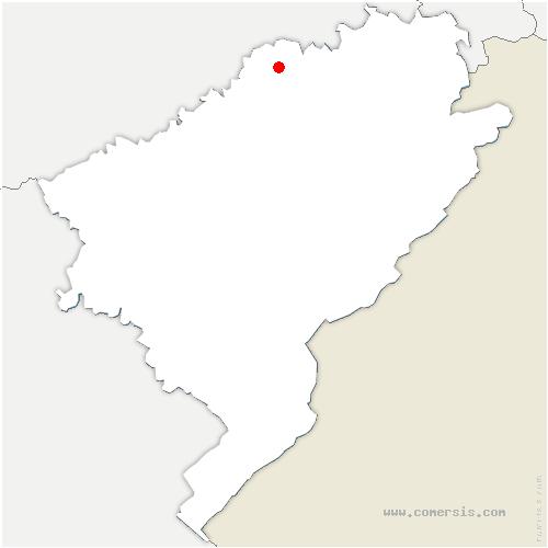 carte de localisation de Gondenans-les-Moulins