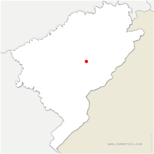 carte de localisation de Grandfontaine-sur-Creuse
