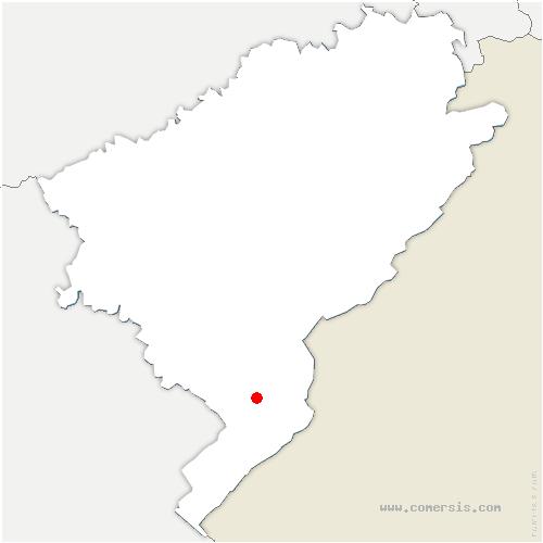 carte de localisation de Grangettes