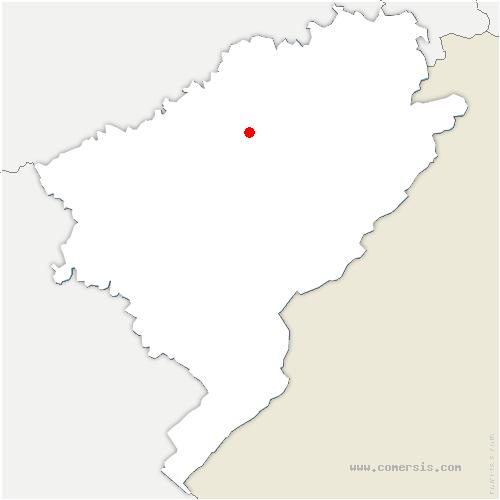 carte de localisation de Guillon-les-Bains