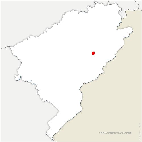 carte de localisation de Guyans-Vennes