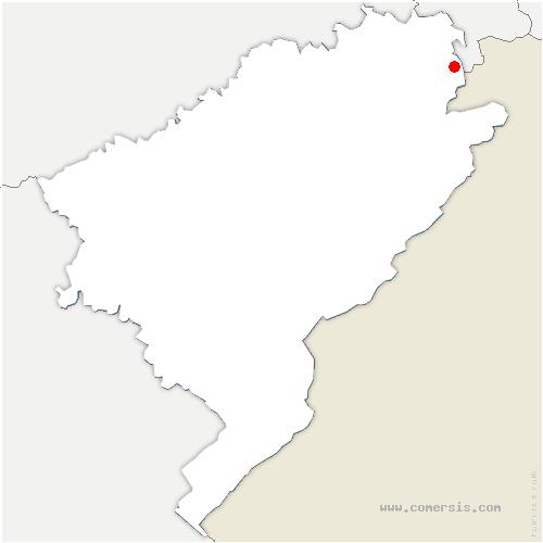 carte de localisation de Hérimoncourt