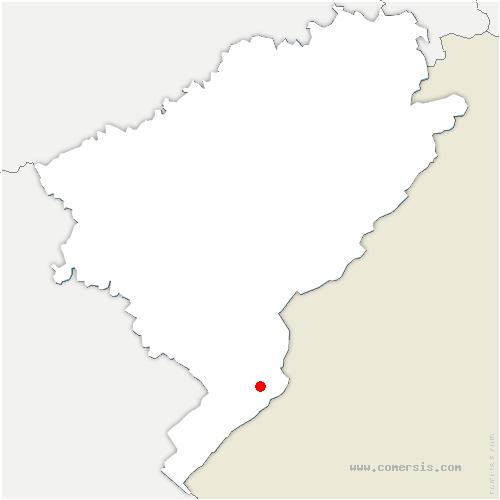 carte de localisation de Hôpitaux-Neufs