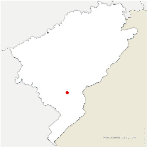 carte de localisation de Houtaud