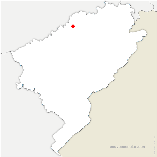 carte de localisation de Huanne-Montmartin