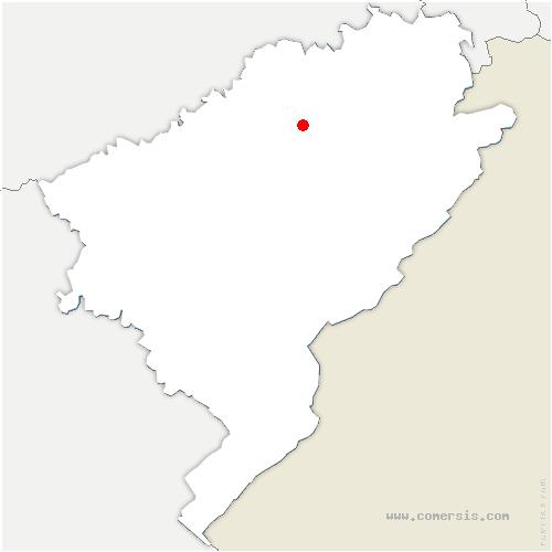 carte de localisation de Hyèvre-Magny