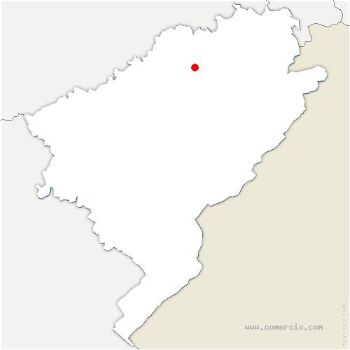 carte de localisation de Hyèvre-Paroisse