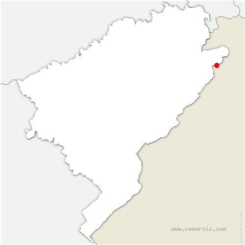 carte de localisation de Indevillers