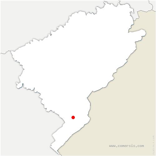 carte de localisation de Labergement-Sainte-Marie