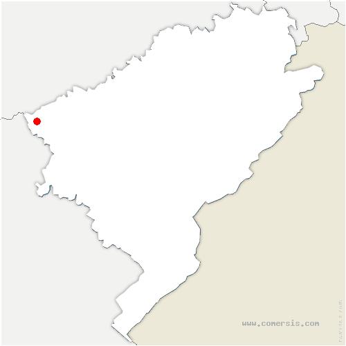 carte de localisation de Lantenne-Vertière