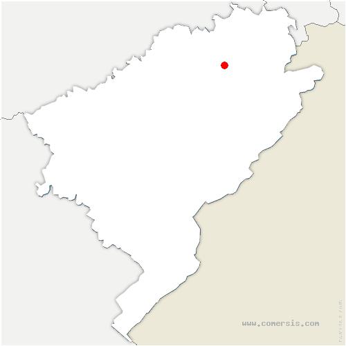 carte de localisation de Lanthenans