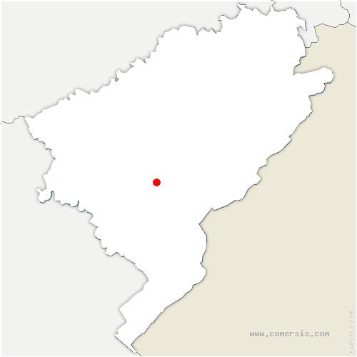 carte de localisation de Lavans-Vuillafans