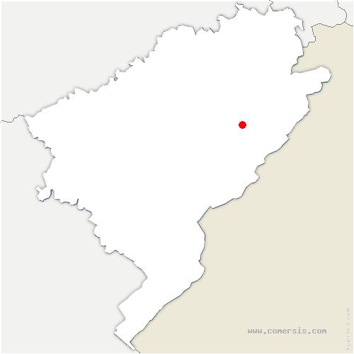 carte de localisation de Longevelle-lès-Russey