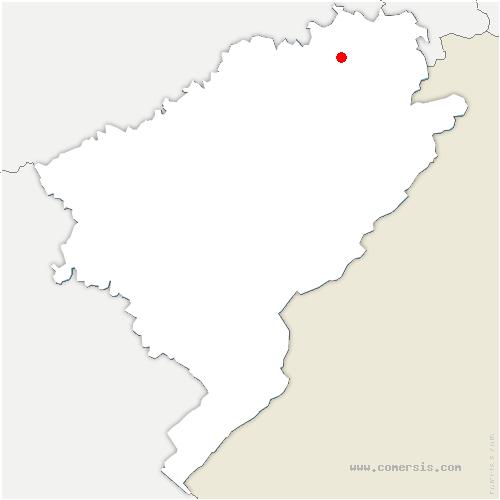 carte de localisation de Longevelle-sur-Doubs
