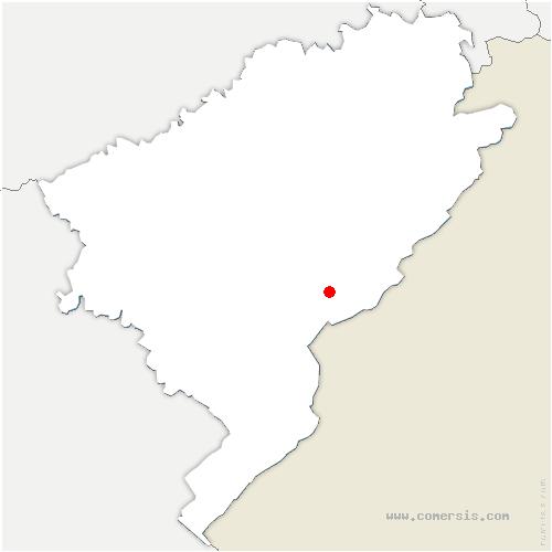 carte de localisation de Longeville