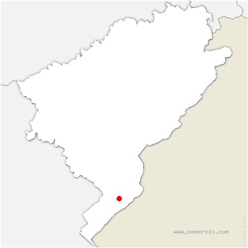 carte de localisation de Longevilles-Mont-d'Or