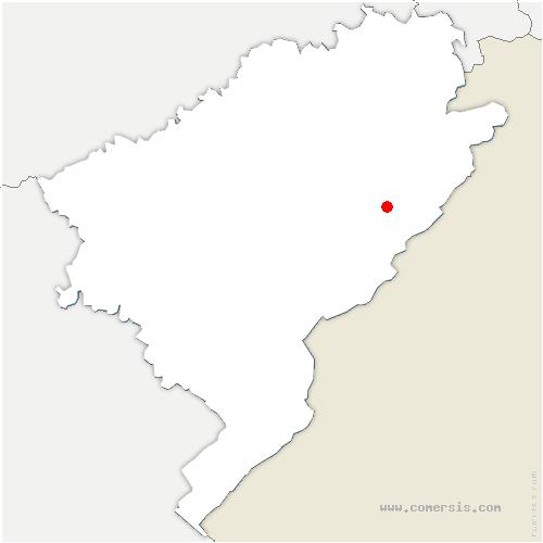 carte de localisation de Luhier