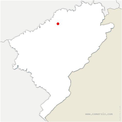 carte de localisation de Luxiol