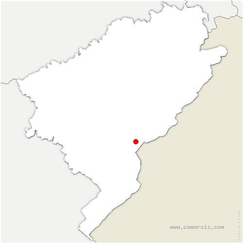 carte de localisation de Maisons-du-Bois-Lièvremont