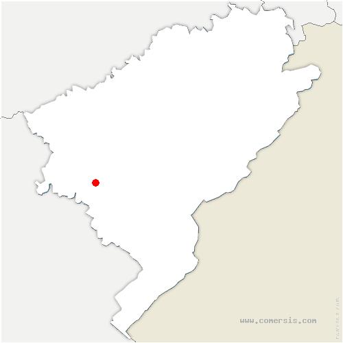 carte de localisation de Malans