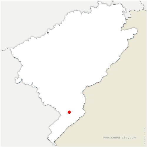 carte de localisation de Malbuisson