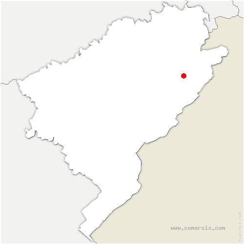 carte de localisation de Mancenans-Lizerne