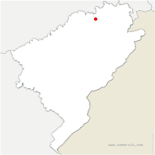 carte de localisation de Mancenans