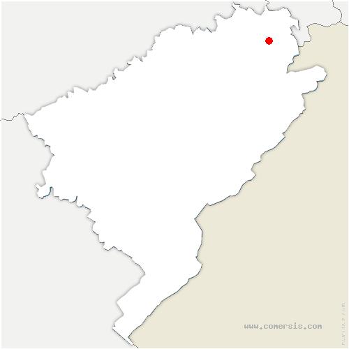 carte de localisation de Mandeure