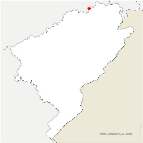 carte de localisation de Marvelise
