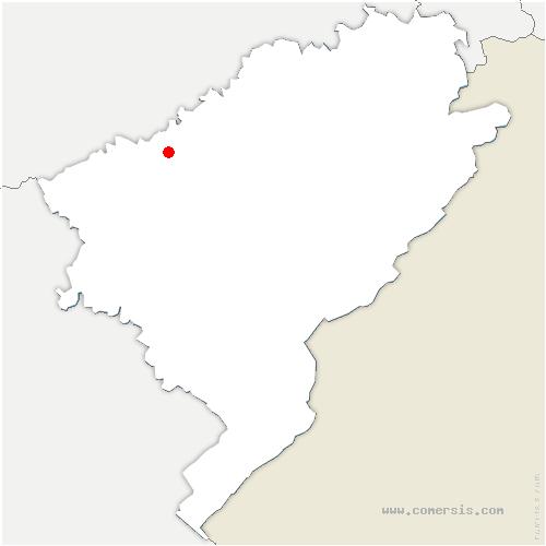 carte de localisation de Mérey-Vieilley