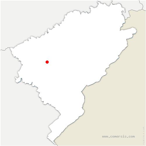 carte de localisation de Mérey-sous-Montrond