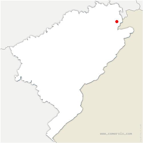 carte de localisation de Meslières