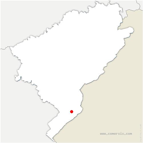 carte de localisation de Métabief