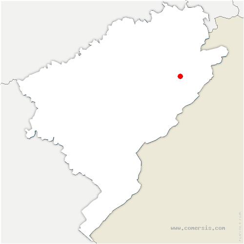 carte de localisation de Mont-de-Vougney